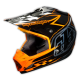"TLD 2015 SE3 ""PINSTRIPE ORANGE"" CARBON FIBRE HELMET"
