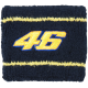 "VALENTINO ROSSI ""46"" Blue WRIST / SWEAT BAND"
