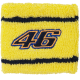 "VALENTINO ROSSI ""46"" Yellow WRIST / SWEAT BAND"