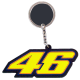 "VALENTINO ROSSI ""46"" KEY CHAIN / RING"