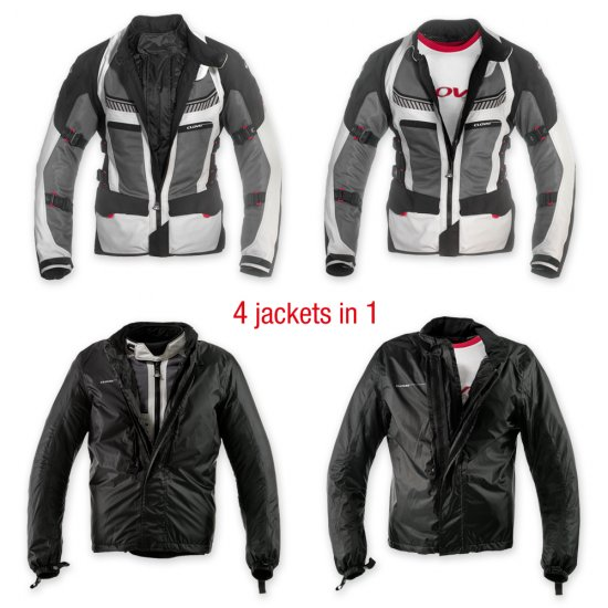 VENTOURING-2 WP Waterproof Jacket Grey - Airbag Optional - Click Image to Close