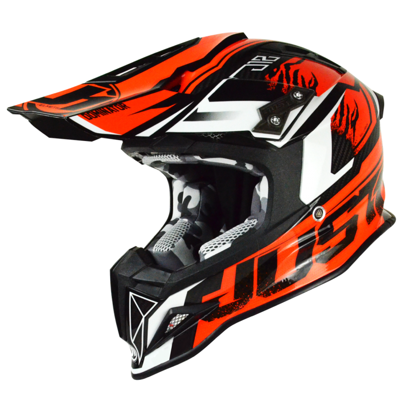 "JUST1 ""DOMINATOR ORANGE"" FULL CARBON HELMET"